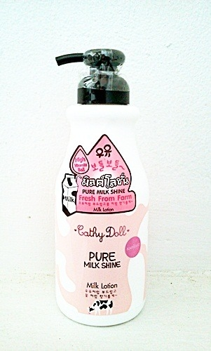 Cathy Doll Milk Lotion dưỡng da ban đêm Pure Milk Shine 480ml