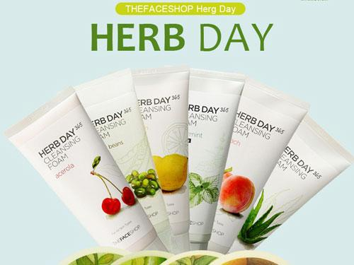 [TheFaceShop] Sữa rửa mặt herb 365 day cleansing foam