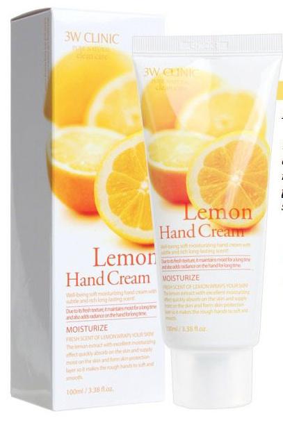 [3W Clinic] Dưỡng Da Tay - Lemon Hand Cream 100ml
