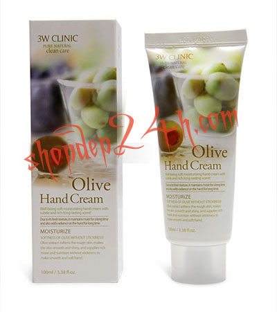 [3W Clinic ] Dưỡng Da Tay - Olive Hand Cream 100ml