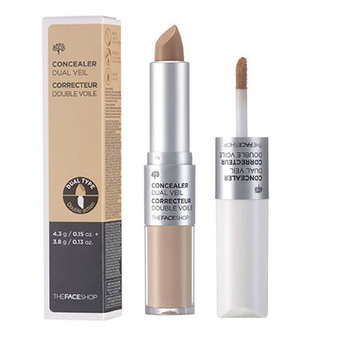 [ The Face Shop ] Concealer Dual Veil - 4.3g / 3.8g