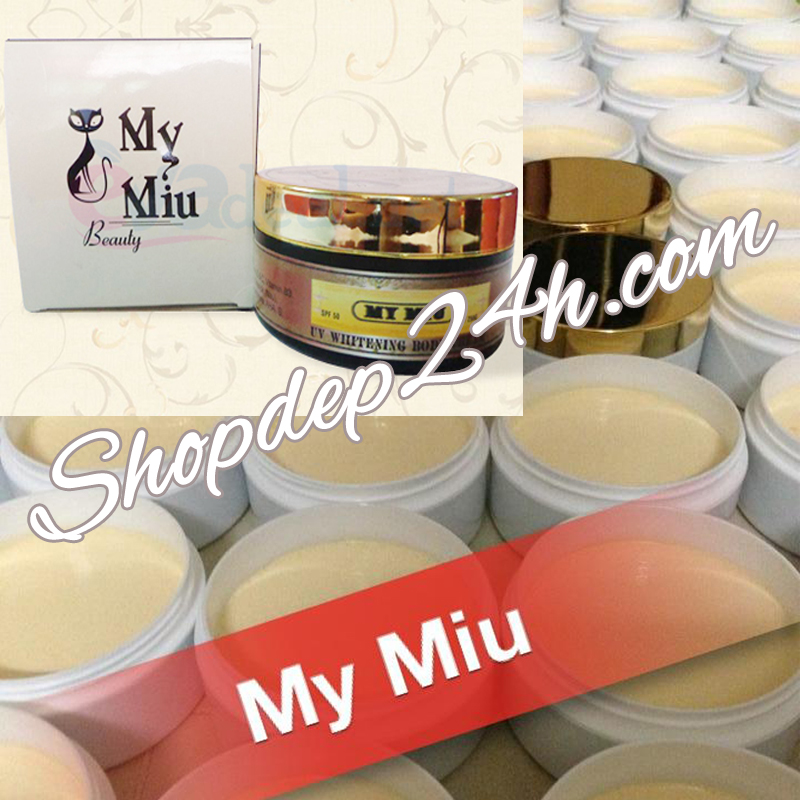 Kem body dưỡng siêu trắng Mymiu 250g trắng sáng sau 1 tuần sử dụng spf 50