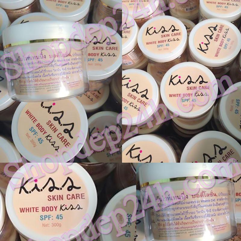 Kem body siêu dưỡng trắng Kiss Thái Lan spf 45  kem tan thấm hết vào da mịn như nhung