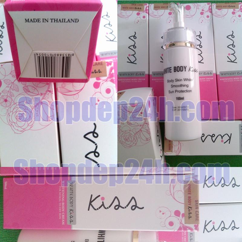 Dưỡng trắng da Body Cream Kiss Thái Lan 160ml SPF45