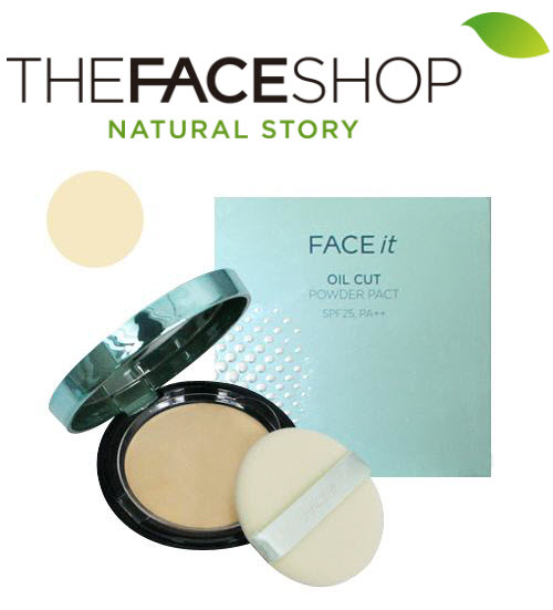 [The Face Shop] Phấn phủ kiềm dầu Face it Oil Cut Pore Powder Pact SPF25 PA++