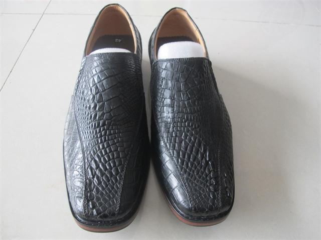 Giày nam da tay cá sấu