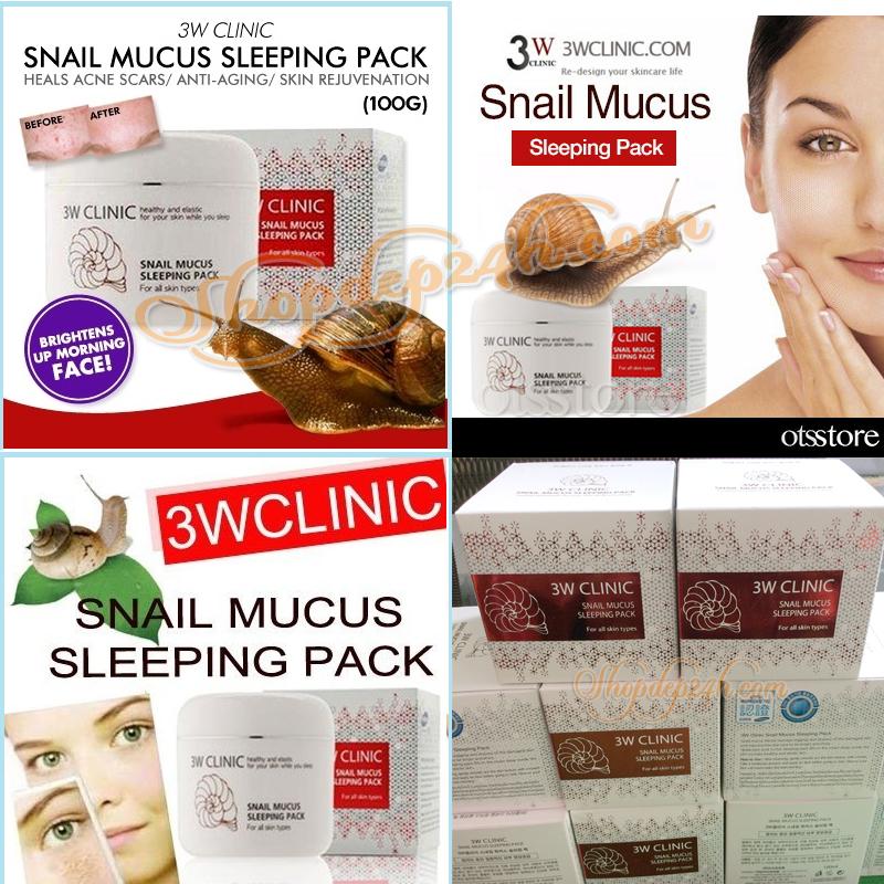 [3W CLINIC] Mặt nạ ngủ Ốc sên Snail Mucus Sleeping 100ml