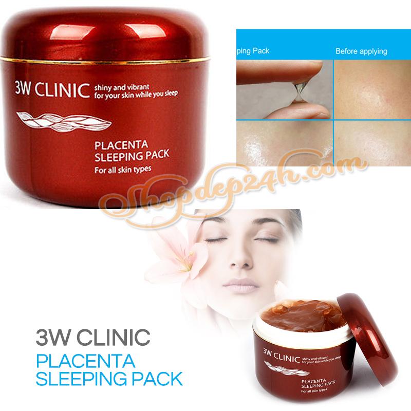 [3W CLINIC] Mặt nạ ngủ nhau thai cừu Placenta Sleeping 100ml
