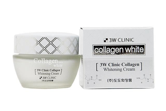 3W CLINIC Collagen Whitening Cream - Kem Dưỡng Làm Trắng Da Tinh Chất Collagen