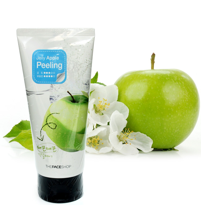 [The Face Shop] Kem massage tẩy tế bào chết Jelly Apple Peeling