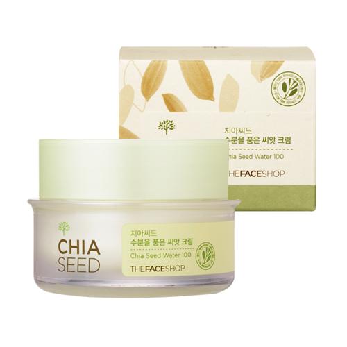 [The Face Shop] Kem dưỡng ẩm phục hồi da Chia Seed Moisture-Holding Seed Cream