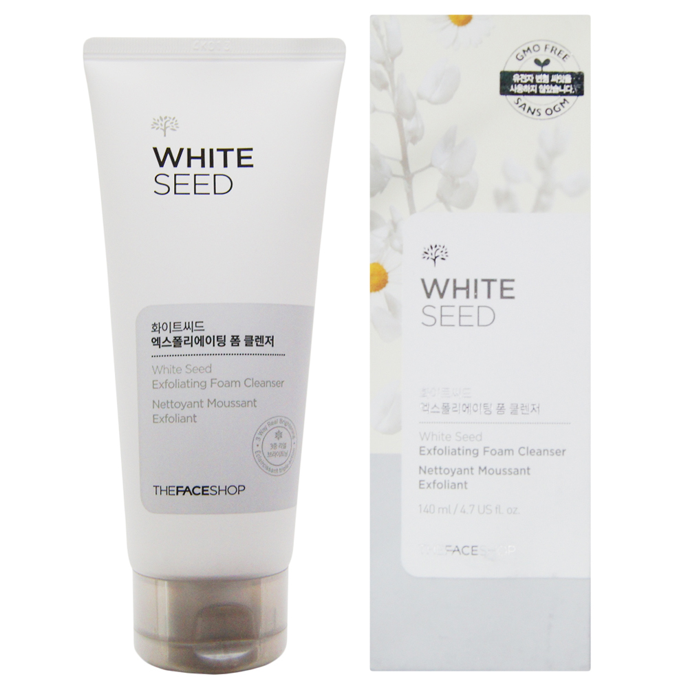 [The Face Shop] SRM trắng da White Seed Exfoliating Foam Cleanser 140ml