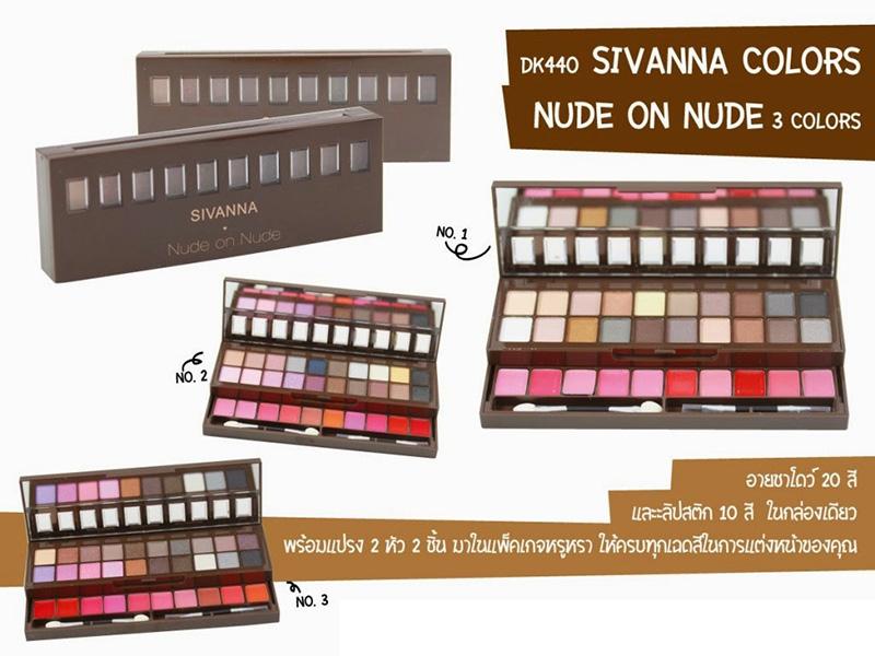 Bộ mỹ phẩm mắt son môi Sivanna Palette