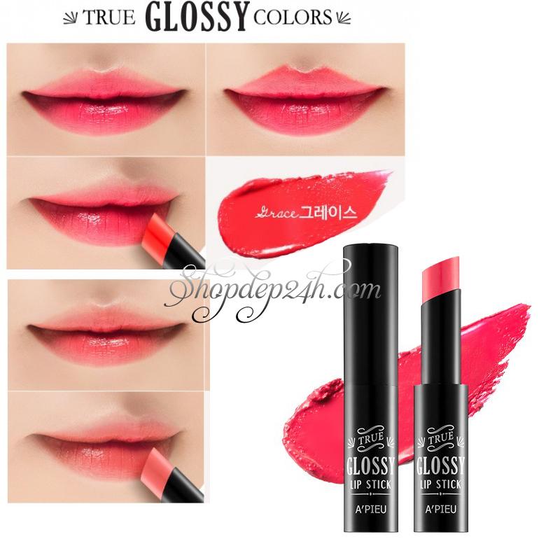 [A'Pieu] True Glossy Lipstick 4.5g