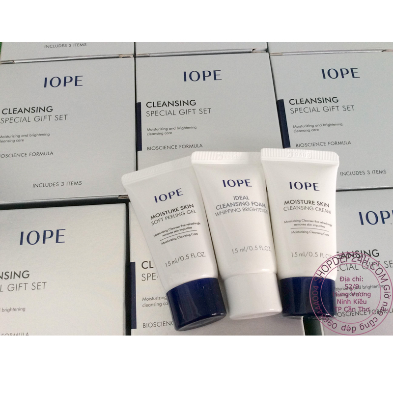 [IOPE] Cleansing special gift set Moisturizing & Brightening Mini Kit 3 x 15ml