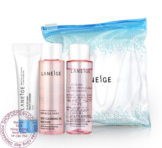 [Laneige] Kit tẩy trang Laneige cleansing trial kit