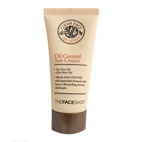 [The Face Shop] Kem chống nắng dành cho da dầu Clean Face Oil Control Sun Cream SPF 35PA++