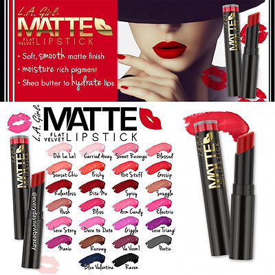 Son Thỏi LA Girls Matte Flat Velvet Lipstick