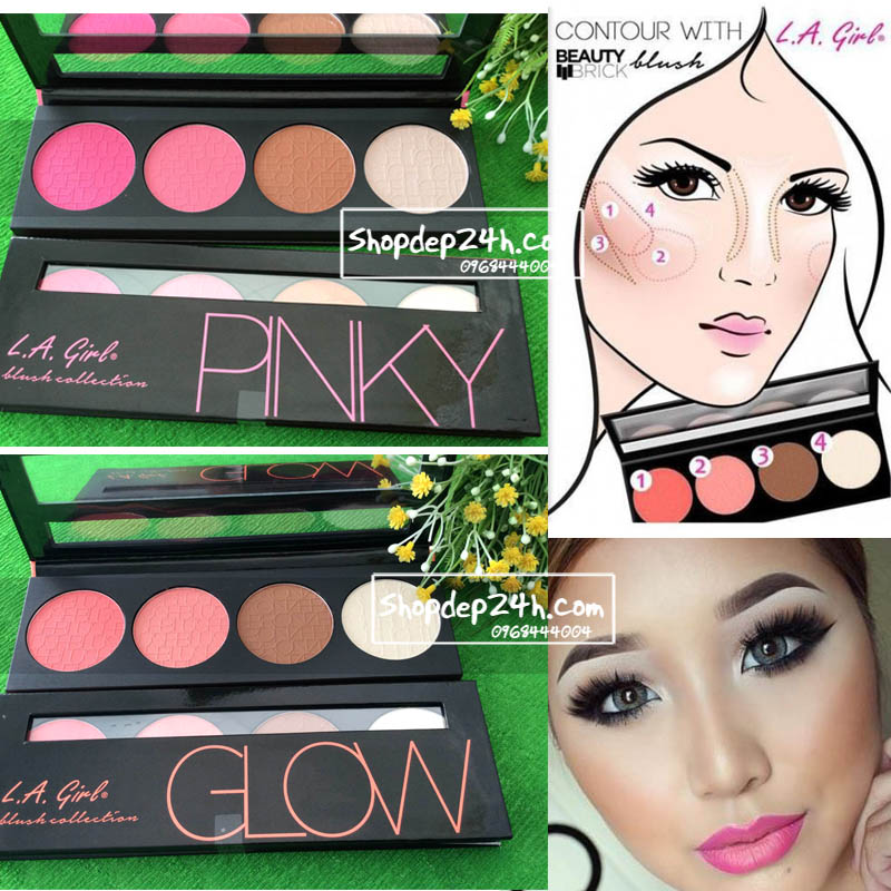 Phấn má hồng + tạo khối L.A Girl Beauty Brick Blush Collection