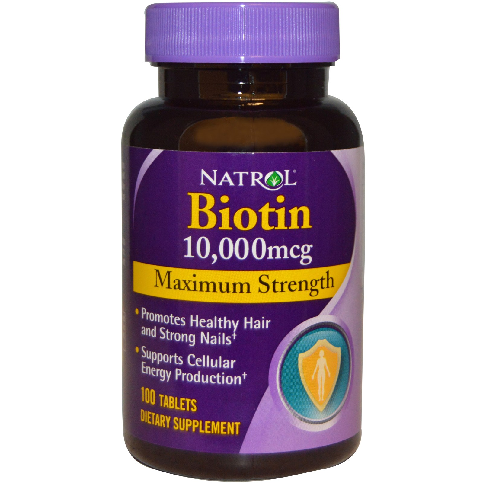 Thuốc mọc tóc Natrol Biotin 10000 mcg - 100 Viên