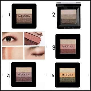 Missha Triple Shadow - Phấn mắt Missha 3 màu