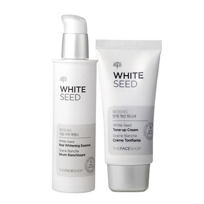 [The Face Shop] Set 2 serum và kem dưỡng trắng da White Seed Real Whitening