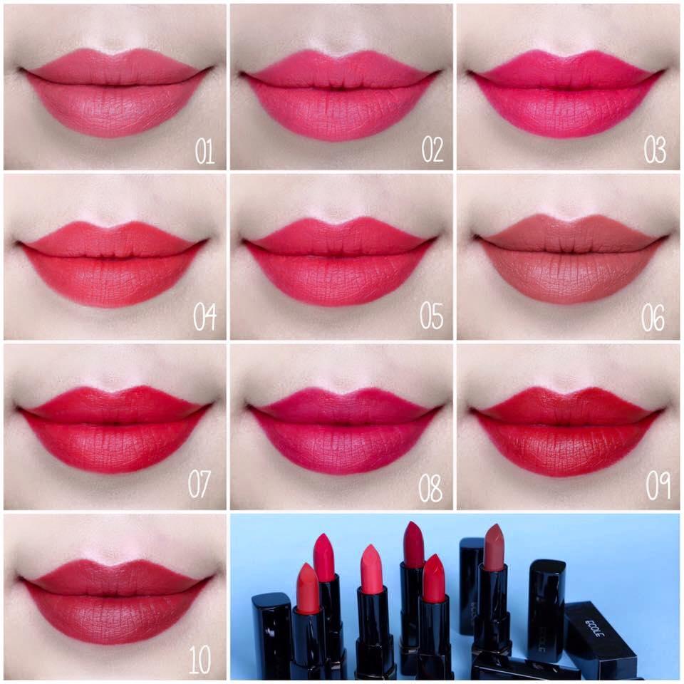 [Ecole] Son thỏi Ecole Shine Black Lipstick 2016