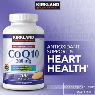 [Kirkland] Thuốc Hỗ Trợ Tim Mạch CoQ10 300mg Kirkland của Mỹ