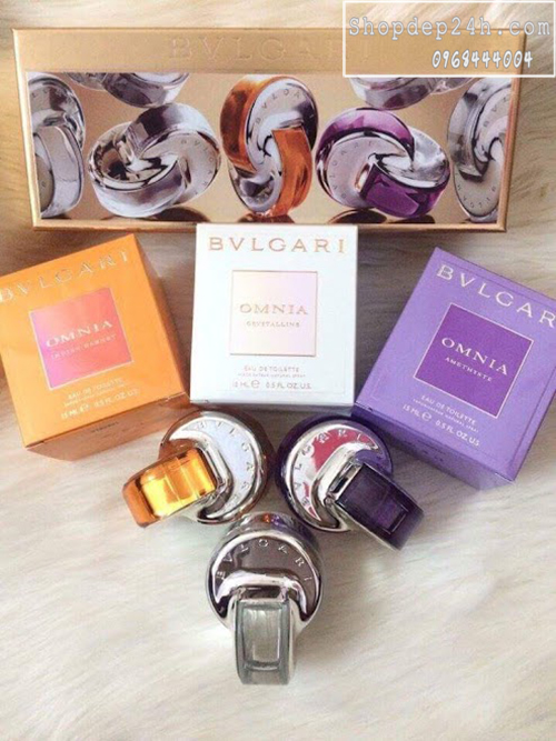 [Bvlgari] Gift Set Bvlgari The Omnia Pure Spray Collection 15ml x3