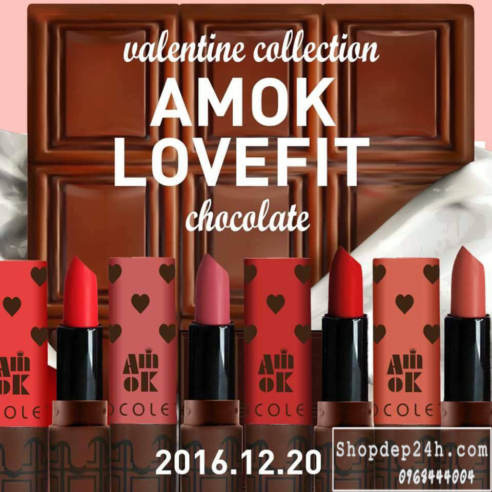 [Amok] Son Thỏi Amok Lovefit Chocolate