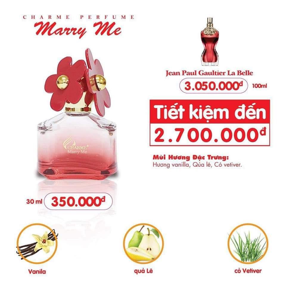 [Charme] Nước Hoa Nữ Charme Marry Me 30ml