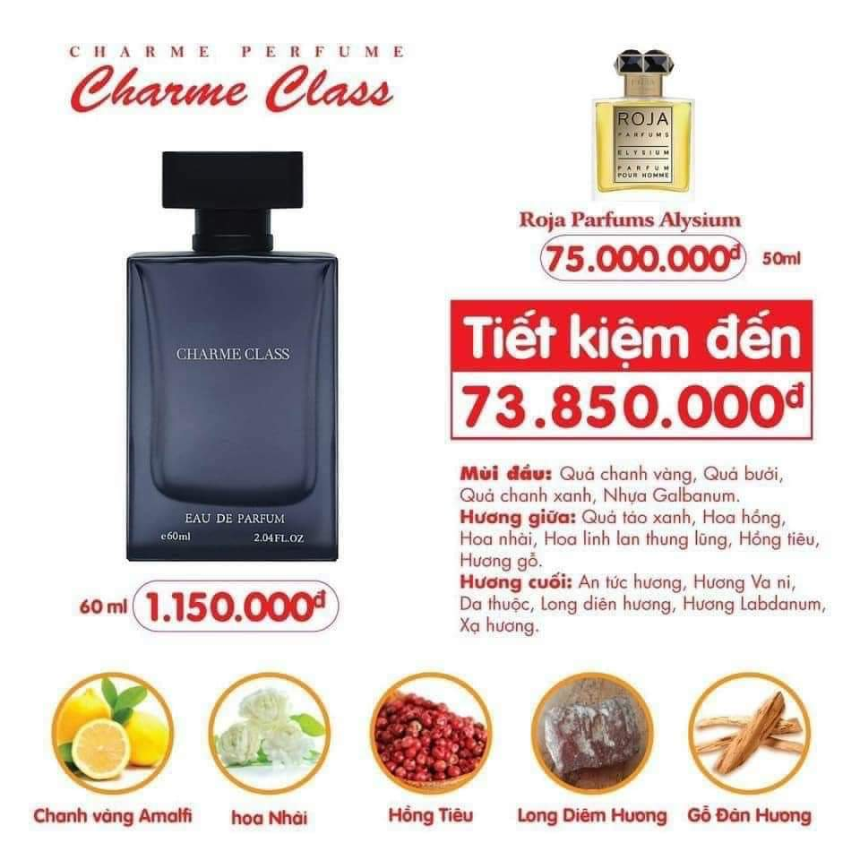 [Charme] Nước hoa nam Charme Class 60ml
