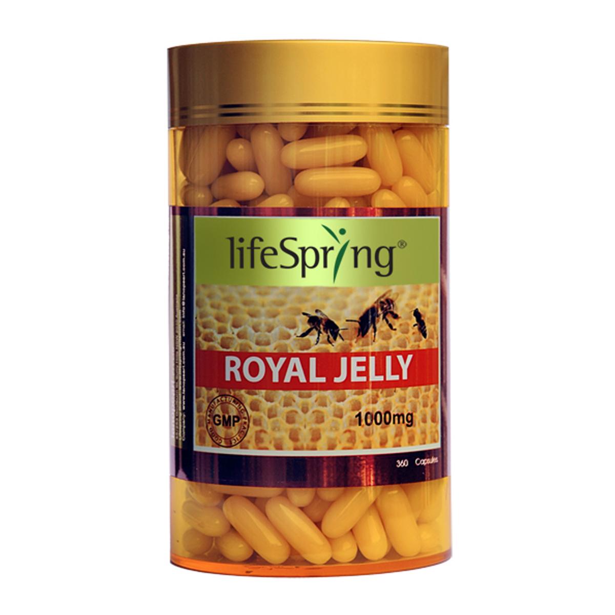 [LifeSpring] Sữa ong chúa LifeSpring Royal Jelly 1000mg - 360 viên