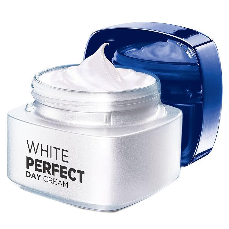 Kem dưỡng da ban ngày trắng mượt đều màu L'Oreal Paris White Perfect SPF17 50ml
