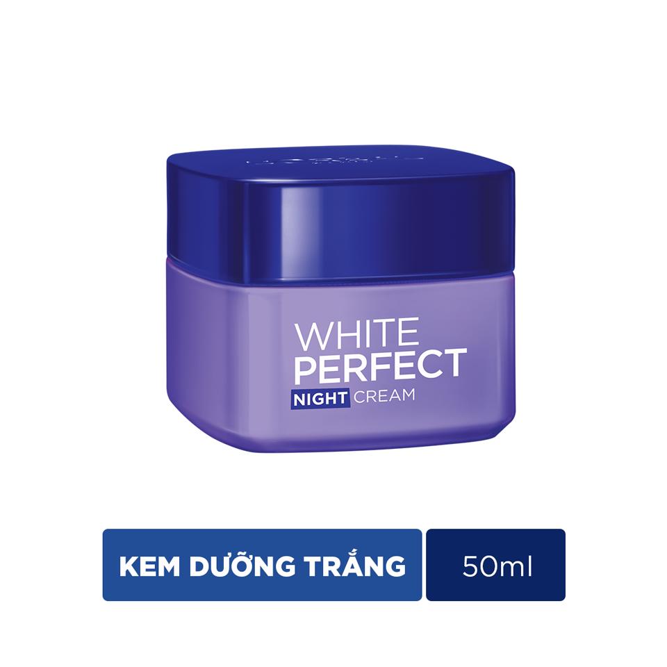 Kem Dưỡng Trắng Da Ban Đêm L'Oreal White Perfect - 50ml