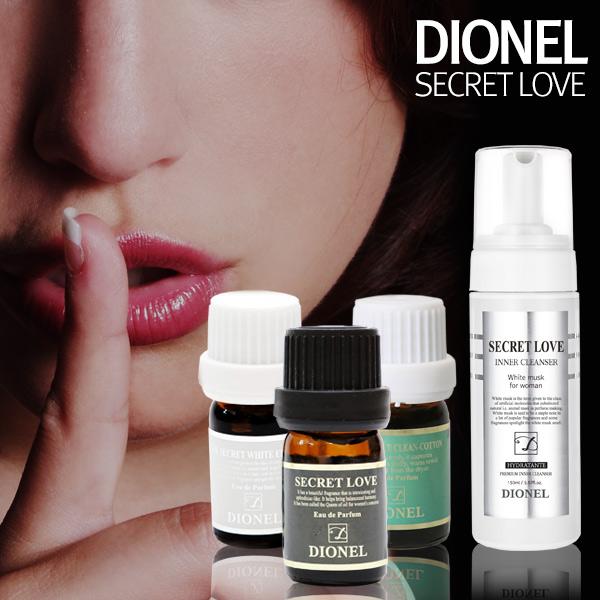 Nước hoa vùng kín DIONEL Hàn Quốc 5ml - Secret Love Feminine Hygiene Perfume Cleanser Black Edition
