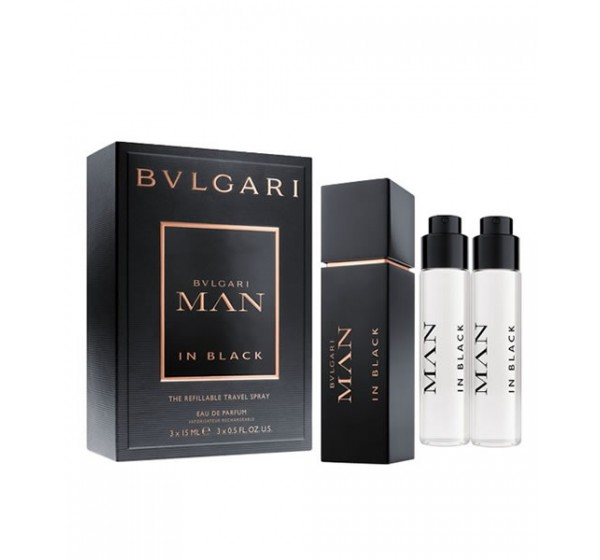 [Bvlgari] Set nước hoa nam Bvlgari Man In Black 3x15ml EDP