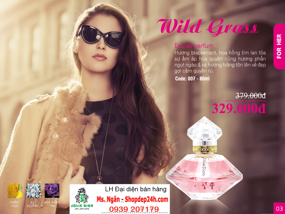 [Jolie Dion] Nước hoa nữ Wild Grass for women EDP 80ml