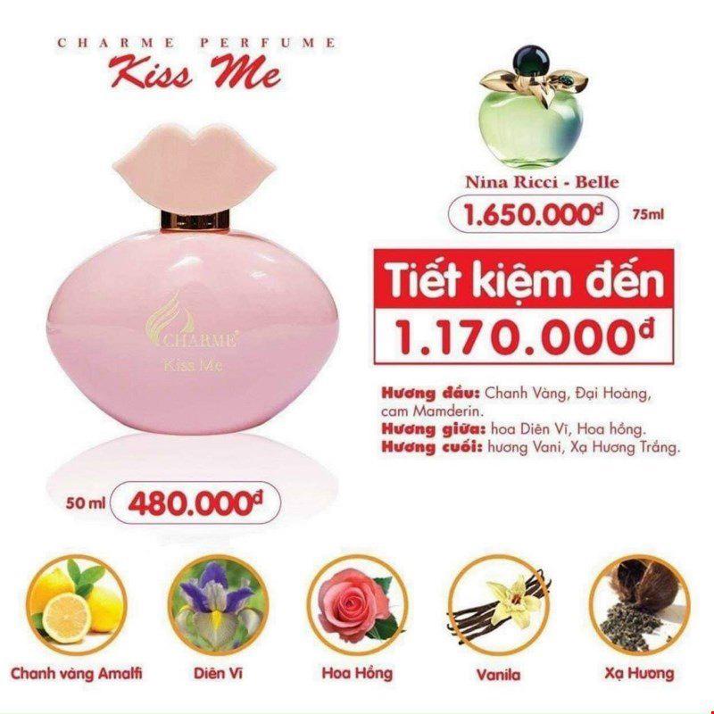 [Charme] Nước hoa nữ Charme Kiss Me 50ml