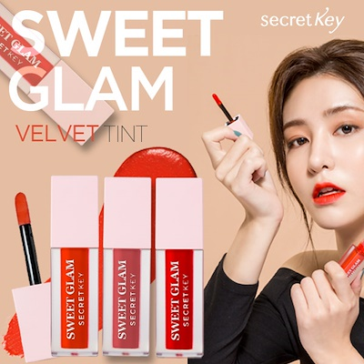 Son kem lì Secretkey Sweet Glam Velvet Tint 5 Colors