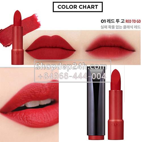 [Clio] Son thỏi Clio Rouge Heel Velvet
