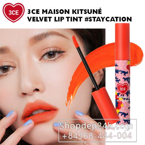 [3CE] Son kem CE maison kitsune velvet lip tint