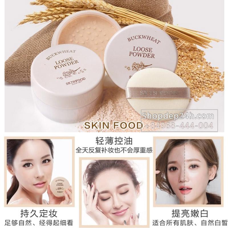 [Skinfood][New] Phấn bột kiềm dầu gạo của Skinfood Rice Shimmer Powder 23g