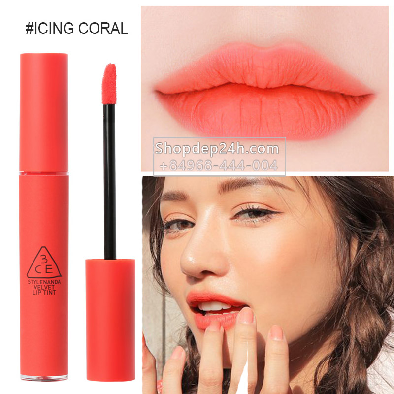 [3CE] Son 3ce Velvet Lip Tint new #Icing coral