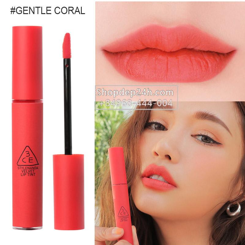 [3CE] Son 3ce Velvet Lip Tint #Gentle Coral