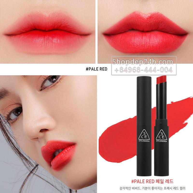 [3CE] Son thỏi 3ce Slim Velvet Lip color #Pale Red