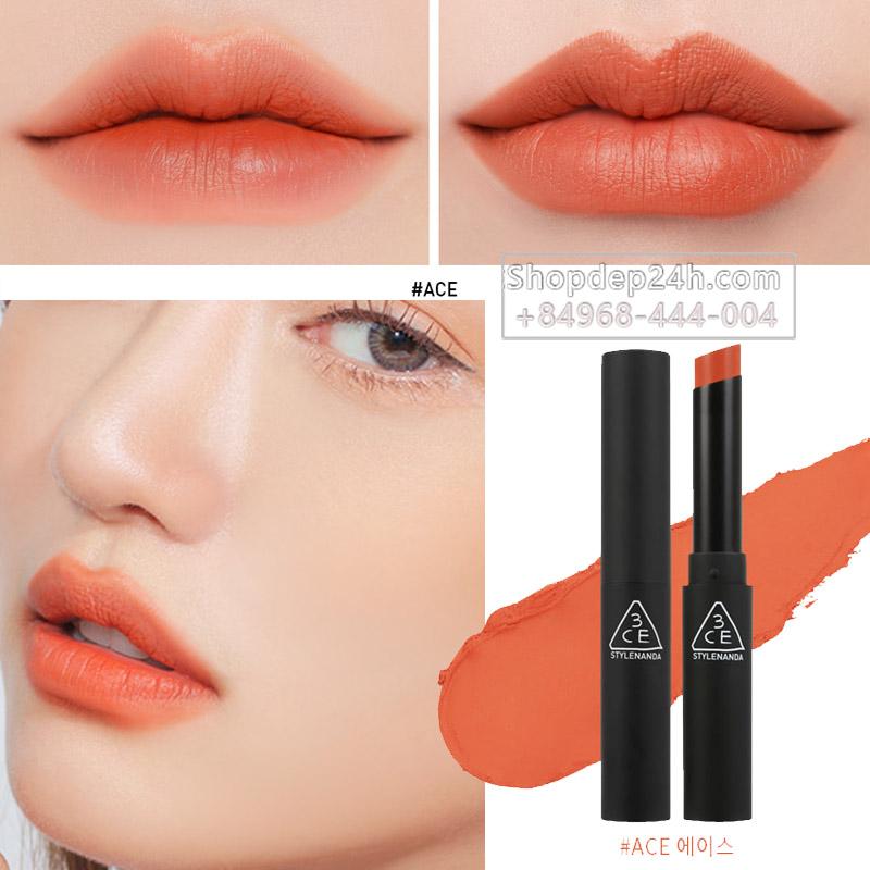 [3CE] Son thỏi 3ce Slim Velvet Lip color #Ace