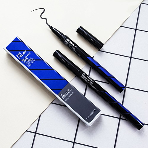 [The Face Shop] Bút kẻ dạ Ink Proof Brush Pen Liner new 2018