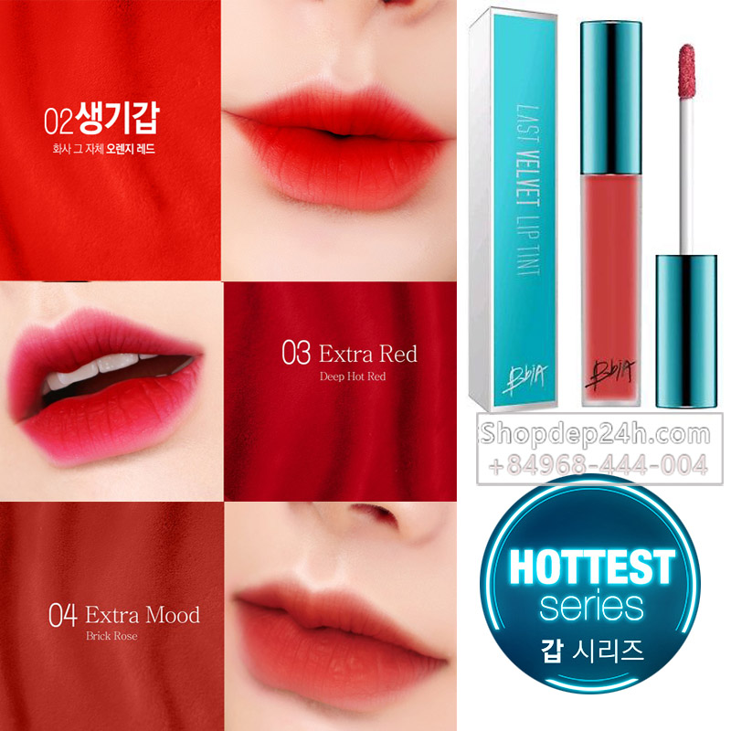 [BBia] Son kem Bbia Last Velvet Lip Tint Version Hottest Series