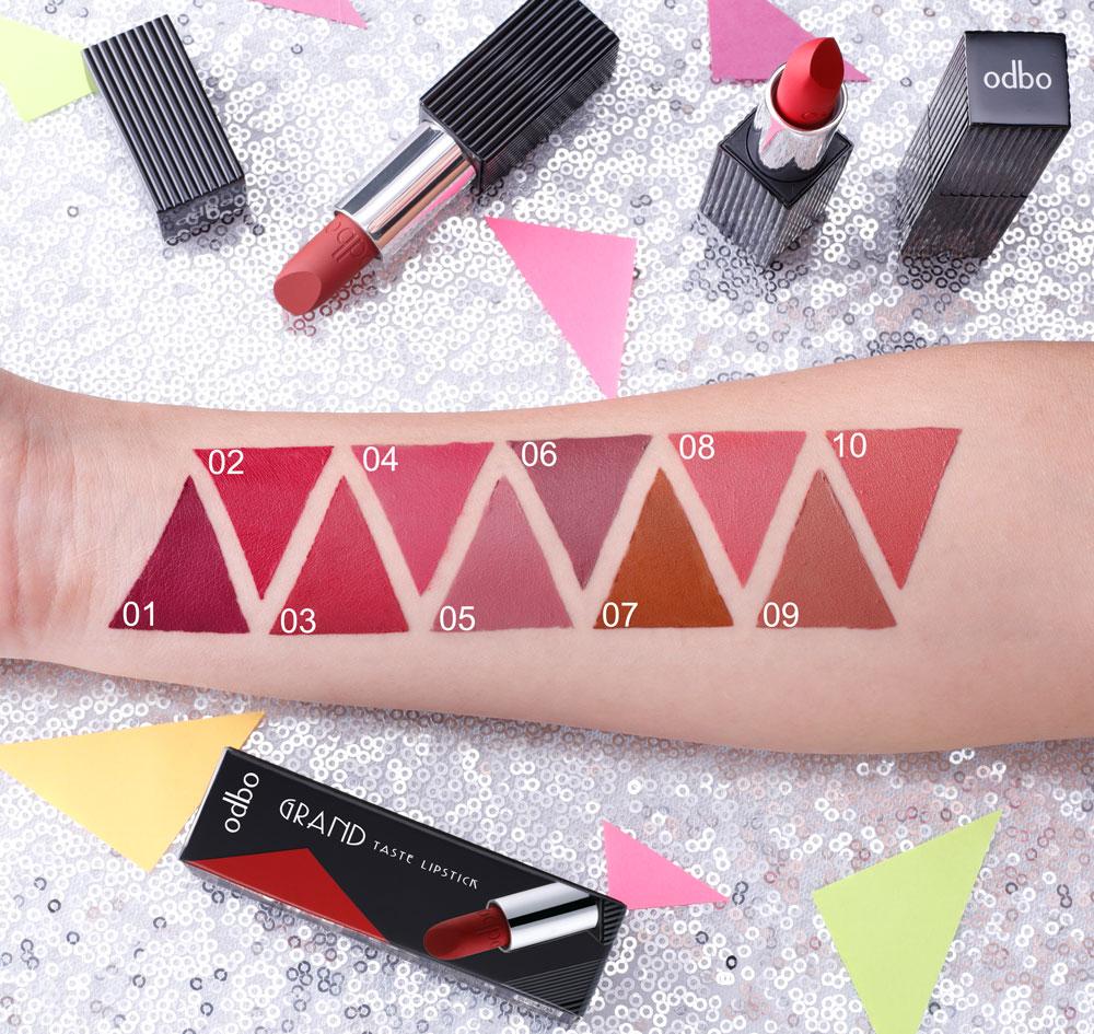 [Odbo] Son thỏi lì Odbo Grand Taste lipstick Thái Lan new 2018
